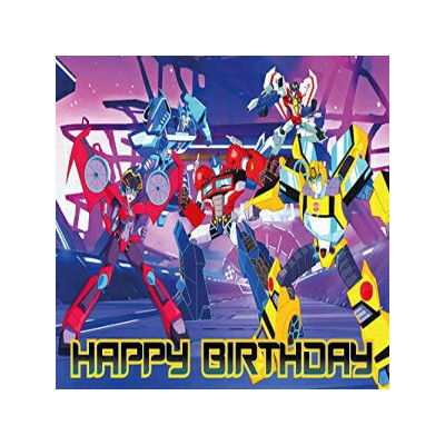 Natural Behaviour 8.3 x 11.7 Inch Edible Square Cake Toppers – Transformers_Cyberverse Themed...