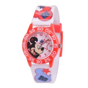 ディズニー 腕時計 キッズ 時計 子供用 ミッキー Disney Kids' W001215 Mickey Mouse Analog Display Quartz White Watch