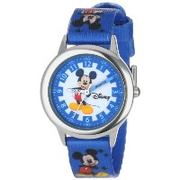 "ディズニー 腕時計 キッズ 時計 子供用 ミッキー Disney Kids' W000022 Mickey Mouse ""Time Teacher"" Stainless Steel Watch"