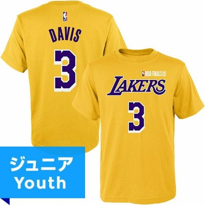 2020 NBAファイナル レイカーズ アンソニー・デイビス ネーム&ナンバーTシャツ(ジュニア) Outerstuff Anthony Davis Los Angeles Lakers Youth...