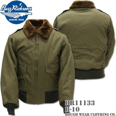 BUZZ RICKSON'S バズリクソンズフライトジャケット B-10 ROUGH WEAR CLOTHING CO. BR11133 OLIVE DRAB