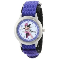 "ディズニー 腕時計 キッズ 時計 子供用 ミニー Disney Kids' W000033 ""Minnie Mouse Time Teacher"" Stainless Steel Watch..."