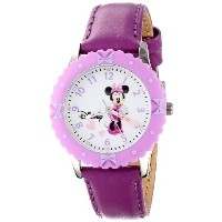 "ディズニー 腕時計 キッズ 時計 子供用 ミニー Disney Kids' W000029 ""Minnie Mouse Time Teacher"" Stainless Steel Watch"