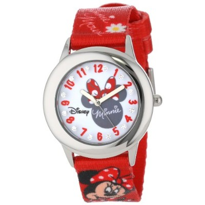 ディズニー 腕時計 キッズ 時計 子供用 ミニー Disney Kids' W000917 Tween Minnie Glitz Stainless Steel Printed Strap Watch