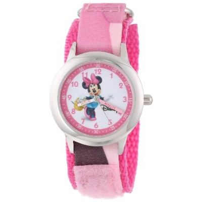 ディズニー 腕時計 キッズ 時計 子供用 ミニー Disney Kids' W000035 Minnie Mouse Stainless Steel Time Teacher Watch