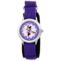 ディズニー 腕時計 キッズ 時計 子供用 ミニー Disney Kids' W000037 Minnie Mouse Stainless Steel Time Teacher Watch