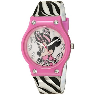 ディズニー 腕時計 キッズ 時計 子供用 ミニー Disney Kids' MINAQ399 Minnie Mouse Analog Display Analog Quartz Two Tone...