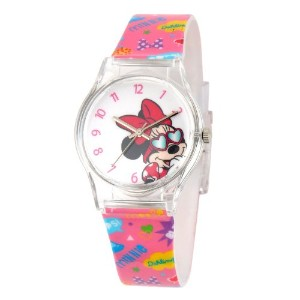 ディズニー 腕時計 キッズ 時計 子供用 ミニー Disney Kids' W001061 Minnie Mouse Plastic Time TeacherPink Watch