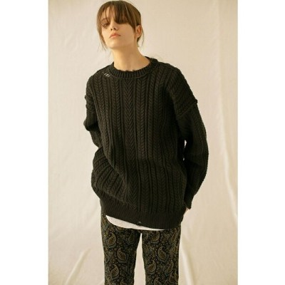 【SALE/60%OFF】BEAUTY & YOUTH UNITED ARROWS  monkey time  COTTON CABLE DISTRESSED CN/ニット ビューティ&ユース...