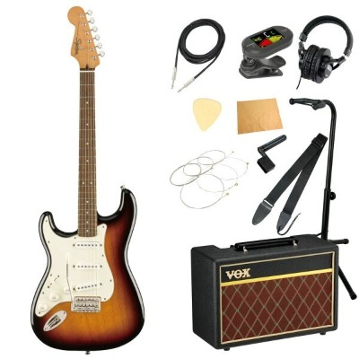 Squier Classic Vibe '60s Stratocaster LH LRL 3TS エレキギター レフティ 左利き用 VOXアンプ付き 入門11点セット