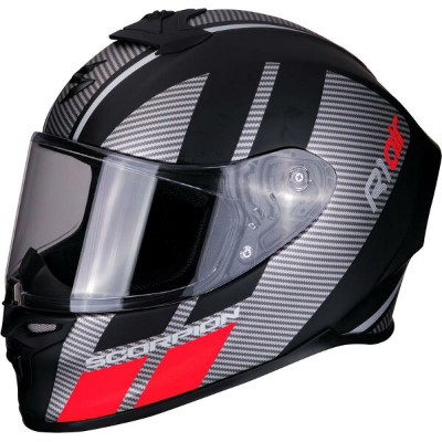 Scorpion Exo-R1 Air Full Face Corpus Street Helmets, Matt Black-Silver-Red | 10-291-177