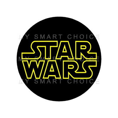 My Smart Choice 7.5 Inch Edible Cake Toppers – STAR WARS LOGO Themed Birthday Party Collection of...