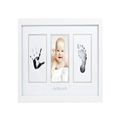 Pearhead Babyprints Newborn Baby Handprint and Footprint Photo Frame Kit with an Included Clean...
