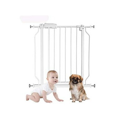 Fairy Baby Extra Wide Or Narrow Baby Gate with Extensions for Stairs Walk Through Easy Auto Close...