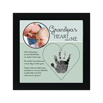 The Grandparent Gift Co. Baby Child Keepsake Handprint Frame with Poetry - Mommy, Daddy, Grandma or...