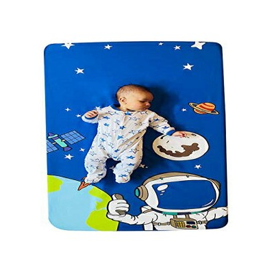 Rage 'n Farmer Space Fitted Crib Sheet for Photo Backdrop. Baby/Toddler Bedding, Gender Neutral,...