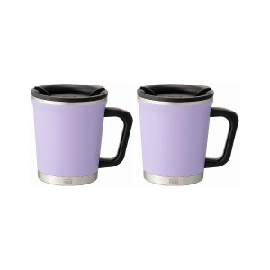 THERMO MUG Double mug 2pcs set○DM1830/DM1830 Pale violet 食器