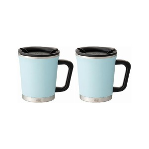 THERMO MUG Double mug 2pcs set○DM1830/DM1830 Ice blue 食器