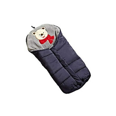 Fairy Baby Universal Baby Stroller Bunting Bag Pushchair Footmuff Sack for 0-6 Months,Navy Blue Bear