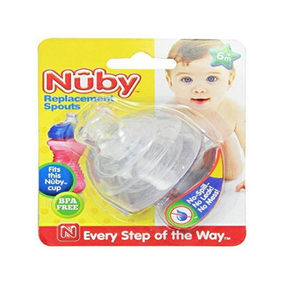 Nuby 2-Pack Super Spout Standard Top Replacements