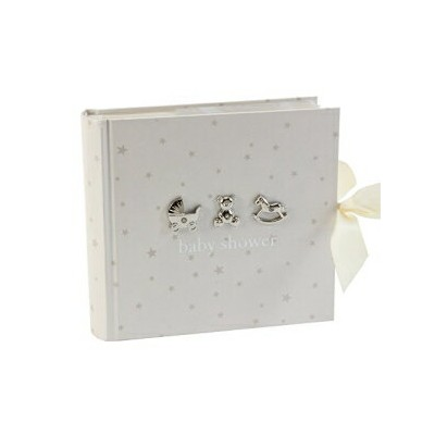 Bambino by Juliana Baby Shower Photo Album, 50 Pages, White
