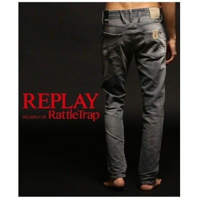 RATTLE TRAP REPLAY*RATTLE TRAP 【AGED 20 YEARS】 ANBASS メンズ ビギ パンツ/ジーンズ パンツその他 グレー ブルー【送料無料】