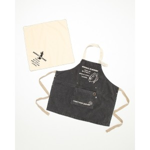 AND PACKABLE KAP キッズエプロン○66388 ノーマルbk キッズ・ベビー用品