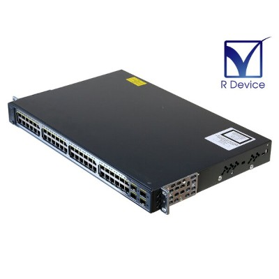 Catalyst 3750 v2 Series WS-C3750V2-48TS-E V08 Cisco Systems 12.2(55)SE5 初期化済み【中古】