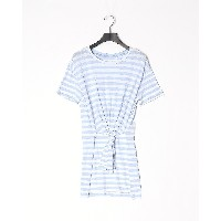 GUESS SS TINA TIED TUNIC○W91I00R3543 ライトブルー チュニック