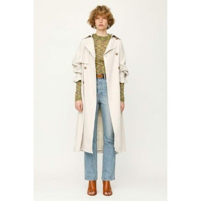 【SALE/40%OFF】SLY BACK WASHER TRENCH コート スライ コート/ジャケット コート/ジャケットその他 ホワイト パープル【送料無料】