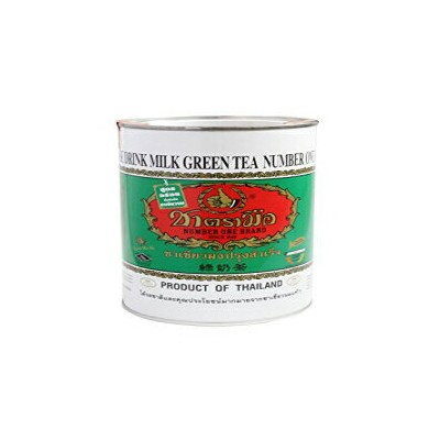 ChaTraMue/ Number One Brand Milk Green Tea 220G. Packed In Tin Green