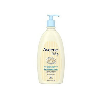 Aveeno Baby Daily Moisture Lotion with Natural Colloidal Oatmeal & Dimethicone, Fragrance-Free, 18...