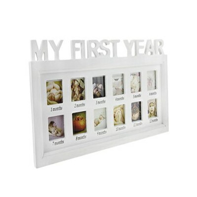 Clobeau Picture Frames,Baby My First Year Photos Frame Photo Moments Keepsake Picture Frame Girls...