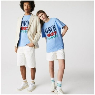 LACOSTE LACOSTE L!VE SINCE 1927 Tシャツ ラコステ カットソー Tシャツ ブルー ブラック【送料無料】