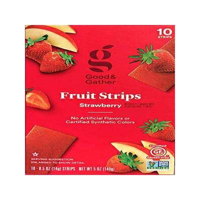 Fruit Strips Fruit Leathers Healthy Snack Made with Real Fruit and Veggie Puree Concentrate Good...