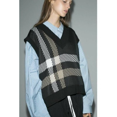 【SALE/50%OFF】BEAUTY & YOUTH UNITED ARROWS  monkey time  C/AC PLAID VEST II/ニットベスト ユナイテッドアローズ アウトレット...