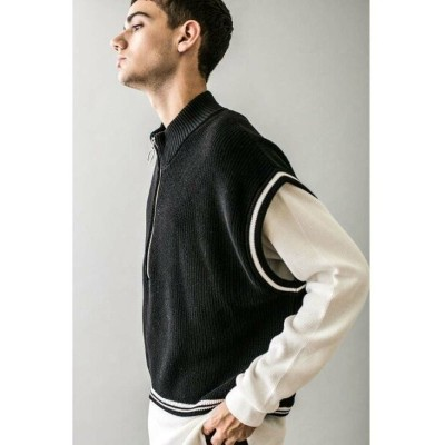 【SALE/50%OFF】BEAUTY & YOUTH UNITED ARROWS  monkey time  AZE CROPPED HALF ZIP PULLOVER VEST/ベスト...