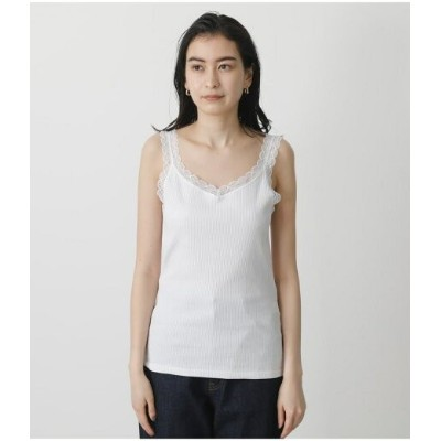 AZUL by moussy BASIC LACE CAMISOLE アズールバイマウジー カットソー キャミソール ホワイト ブラック