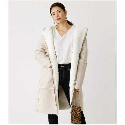 【SALE/50%OFF】AZUL by moussy REVERSIBLE ECO MOUTON COAT アズールバイマウジー コート/ジャケット コート/ジャケットその他 ブラウン ホワイト...