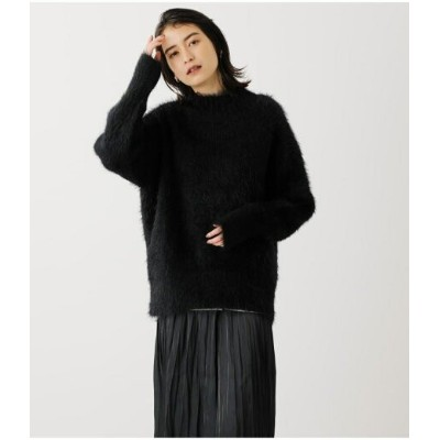 【SALE/50%OFF】AZUL by moussy FEATHER YARN VOLUME TOPS アズールバイマウジー ニット ニットその他 ブラック ホワイト ピンク