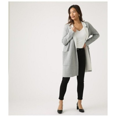 【SALE/60%OFF】AZUL by moussy COCOON KNIT COAT アズールバイマウジー コート/ジャケット コート/ジャケットその他 グレー