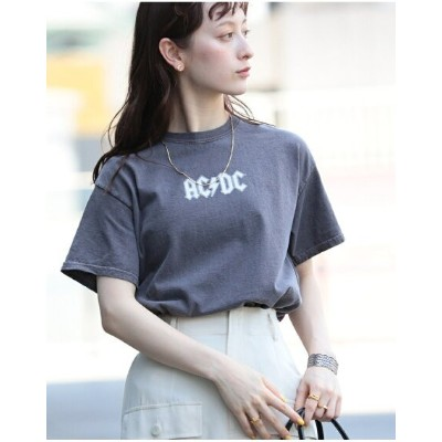 Ray BEAMS 【WEB限定】GOOD ROCK SPEED / ACDC Tシャツ ビームス ウイメン カットソー Tシャツ ブラウン【送料無料】