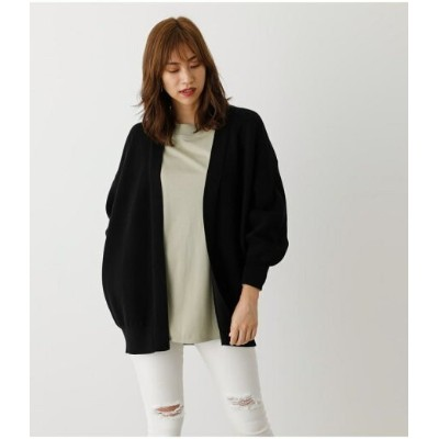 【SALE/70%OFF】AZUL by moussy SWEATTER LOOSE GOWN アズールバイマウジー ニット カーディガン ブラック グレー