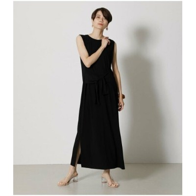 【SALE/50%OFF】AZUL by moussy ICE CLEAN FRONT TIE ONEPIECE アズールバイマウジー ワンピース 5ー9分袖ワンピース ブラック オレンジ カーキ