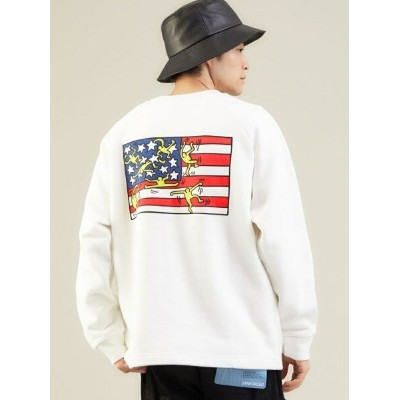 UNITED ARROWS green label relaxing 【WEB限定】 Manhattan Potage*Keith Haring クルーネック スウェット ユナイテッドアローズ...