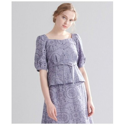 【SALE/50%OFF】TOCCA 【TOCCA LAVENDER】FOODTEXTILE Embroidery Blouse ブラウス トッカ シャツ/ブラウス 長袖シャツ レッド【送料無料】