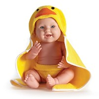 "JC Toys 赤ちゃん 新生児 人形 フィギュア ドール La Newborn Moments 17"" Doll with Hooded Duck Towel"