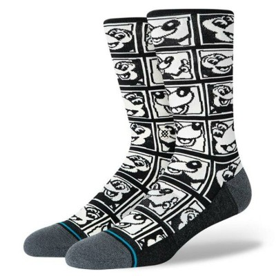 Stance ファッション 靴下 Stance Men's Mickey Mouse x Keith Haring 1985 Socks Black Footwear Uncommon T...