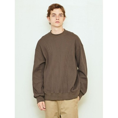 UNITED ARROWS & SONS  THERMAL CREW/カットソー† UNITED ARROWS & SONS ユナイテッドアローズ カットソー Tシャツ カーキ ホワイト【送料無料】...