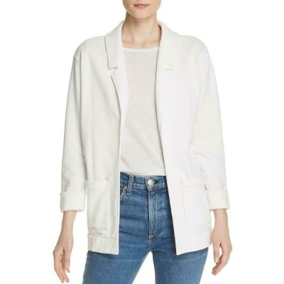 Nation ファッション スーツ ブレザー Nation Womens Drea White Relaxed Open Front Topper Jacket Coat L